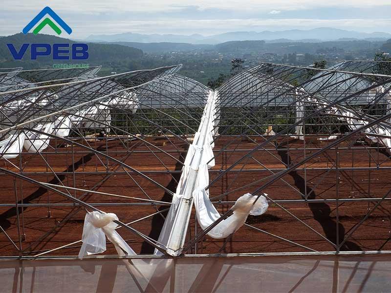 Máng xối do VPEB GREENHOUSE sản xuất