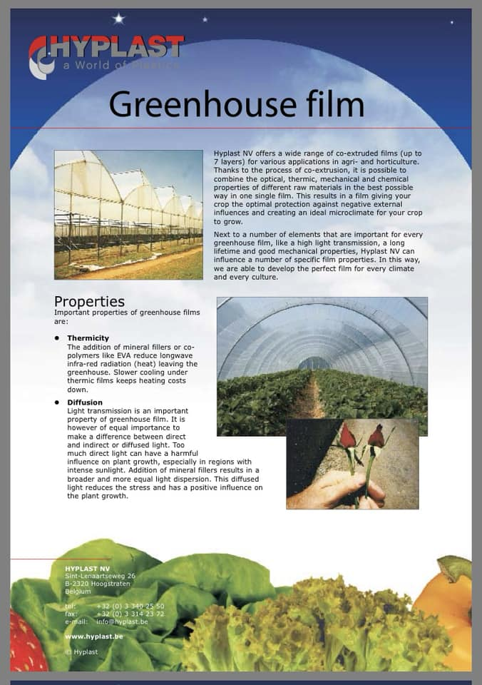 Hyplast Greenhouse Film