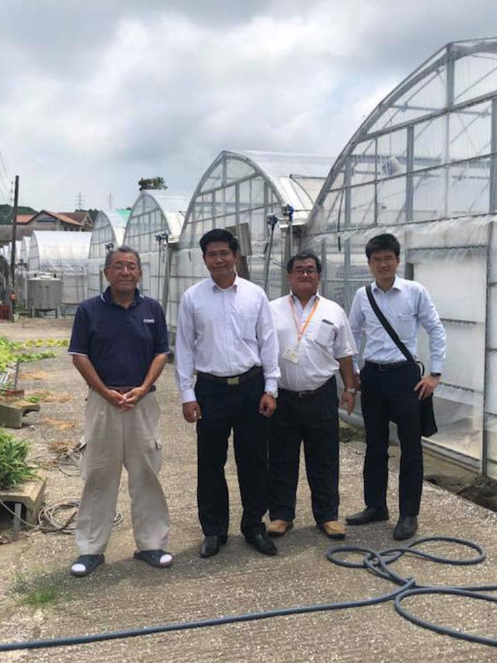 VPEB thăm mô hình nông nghiệp tại Nhật